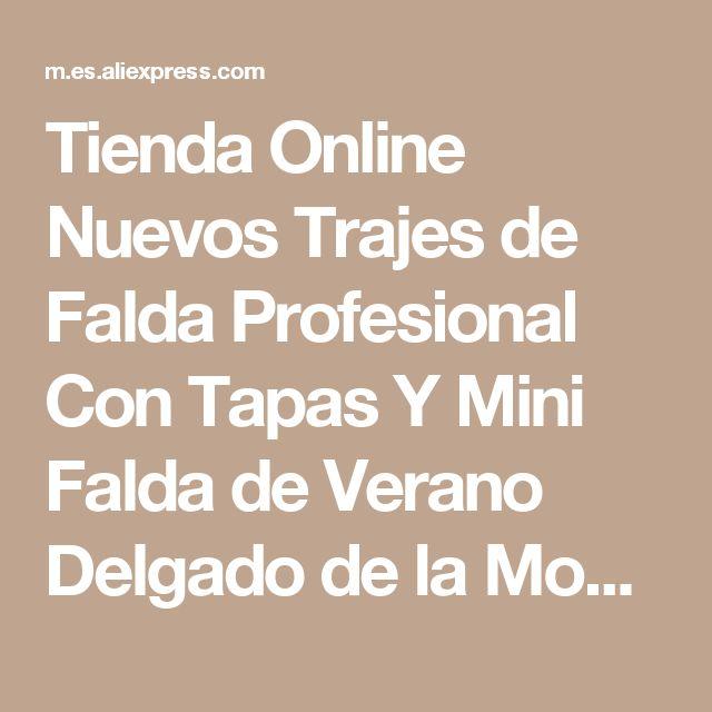 Tienda Online Nuevos Trajes de Falda Profesional Con Tapas Y Mini Falda de Verano Delgado de la Moda de Manga Corta Mujer Mujeres Casual Trajes de Negocios | Aliexpress móvil