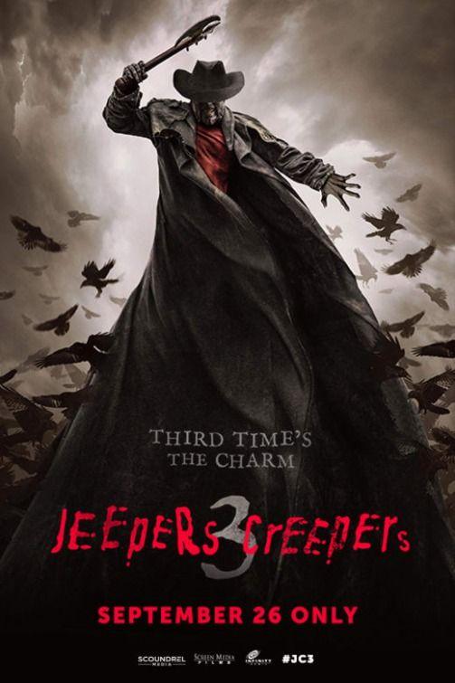 nuevo cartel oficial de la tercera entrega de Jeepers Creepers, dirigida por Victor Salva que estará en limitadas salas de cine estadounidenses el próximo 26 de septiembre.