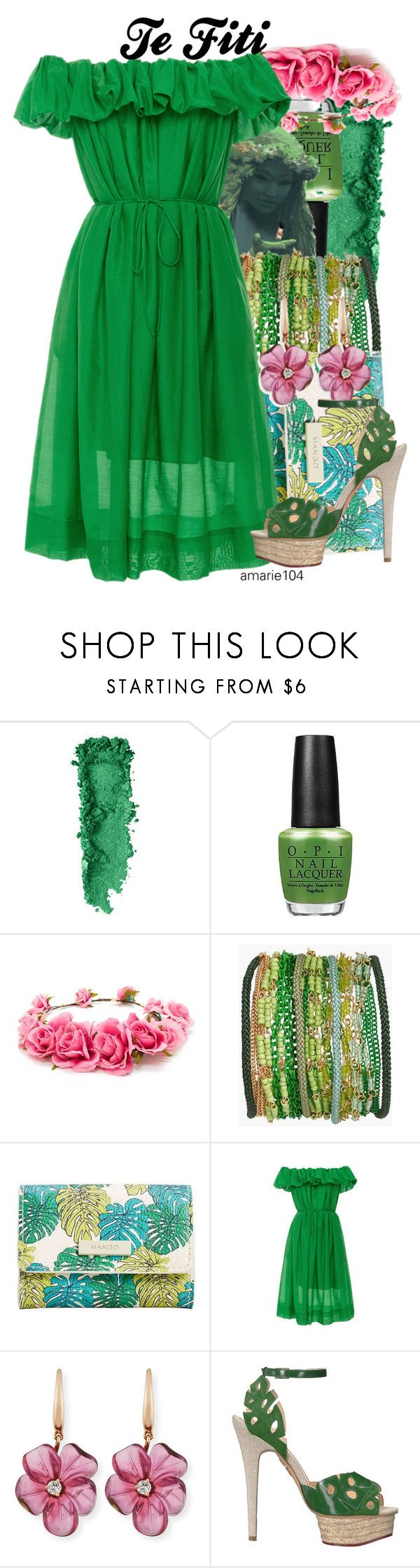 """""""Te Fiti"""" by amarie104 ❤ liked on Polyvore featuring Forever 21, Sequin, MANGO, Paule Ka, Rina Limor and Charlotte Olympia"""