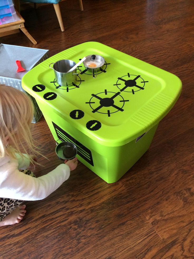 Kids Portable Kitchen Cooktop and storage! Budget friendly gift idea that mom and child will love!