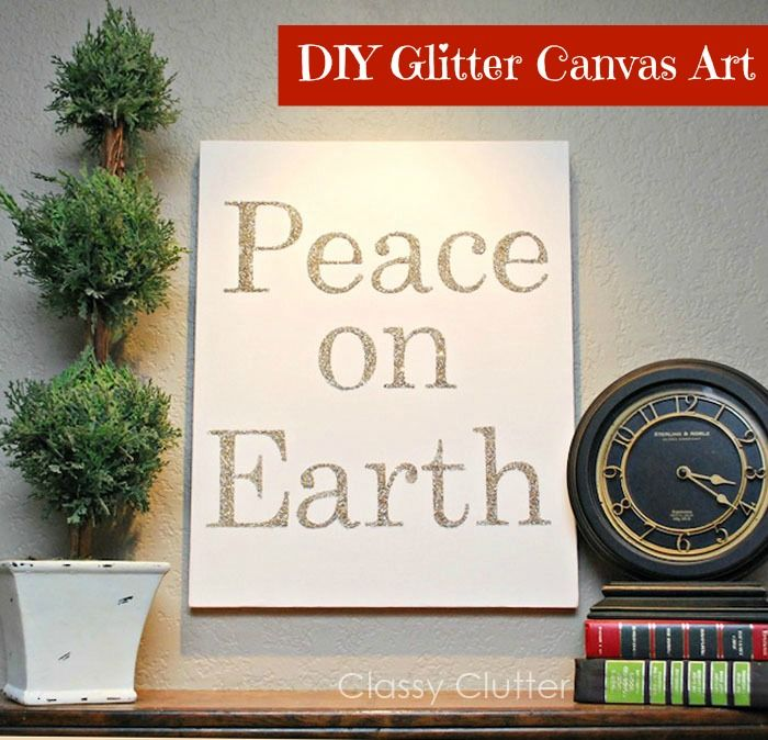 LOVE this #DIY #Glitter Canvas Art by Classy Clutter on iheartnaptime.net