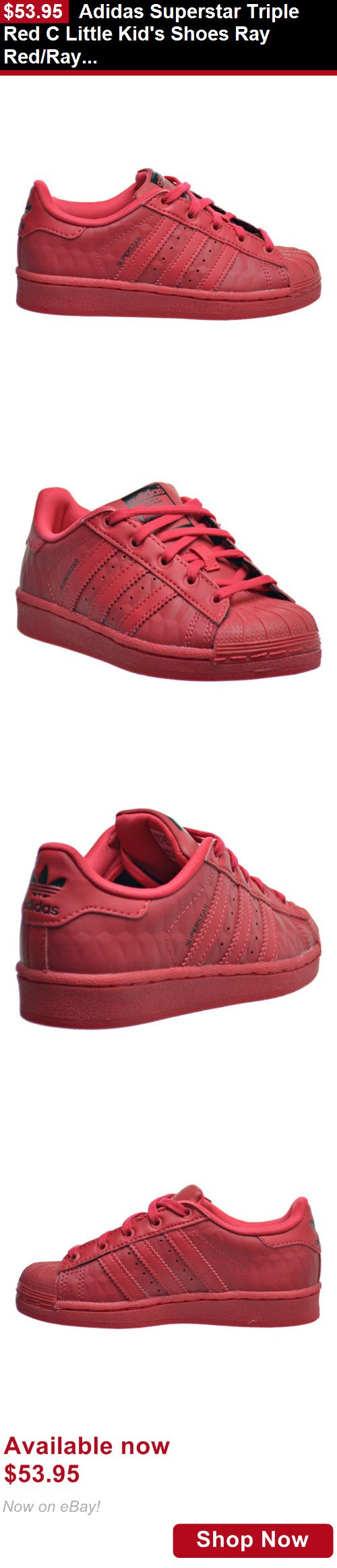 Children boys clothing shoes and accessories: Adidas Superstar Triple Red C Little Kids Shoes Ray Red/Ray Red/Black B27525 BUY IT NOW ONLY: $53.95