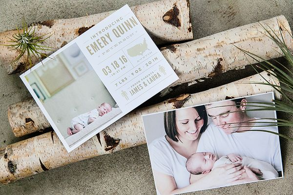 Baby Announcements: Born Yesterday - Design Aglow - 2