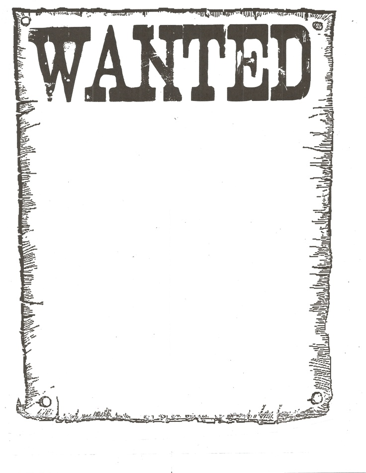 Wanted Poster for western theme