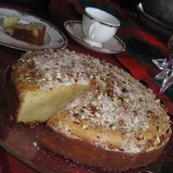 Vassilopita -Greek New Year's Cake , our Greek friend makes this each New Year's Eve. Who ever finds the coin has luck for the year.