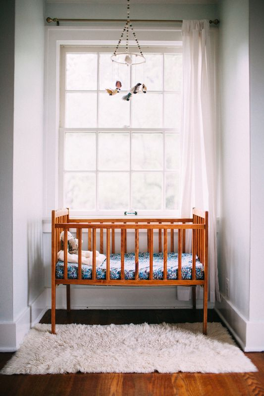 using tiny spaces for a crib More
