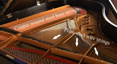 """Do you know the terms """"austenitizing"""" or """"swedge""""? No? Join the club! So if you want to be a little more educated on the manufacturing proccess of piano strings, read this month's blog post by Piano Price Point. They had the chance to sit down with Andy Wilson from Mapes who gives us a few insights into how piano strings are made #music #instrument #education"""