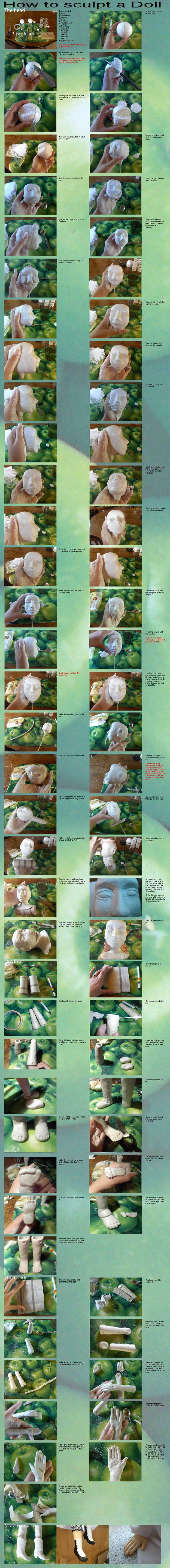 How to sculpt a doll-tutorial- by Hamkaastostie
