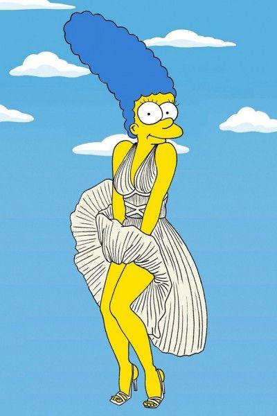 Marge Simpson vira Marilyn Monroe e Coco Chanel nas mãos de ilustrador