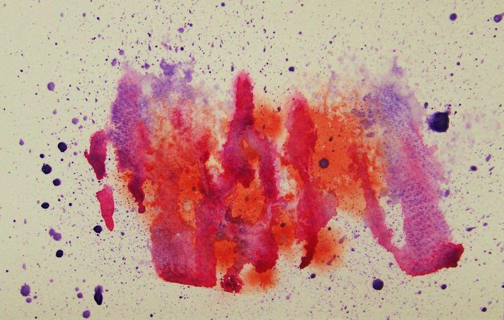 Abstrait, aquarelle