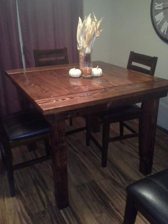 pub style kitchen table by farmstylefurniture on etsy 500 00 diy rh pinterest com