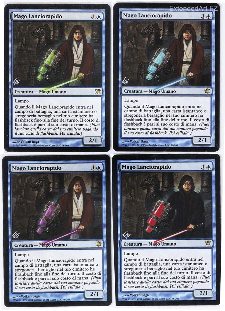 Snapcaster Mage whit theme Star Wars by FZ, Magic: The Gathering, Altered Art by FZ