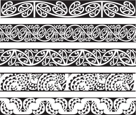 Maori Kowhaiwhai Seamless Designs