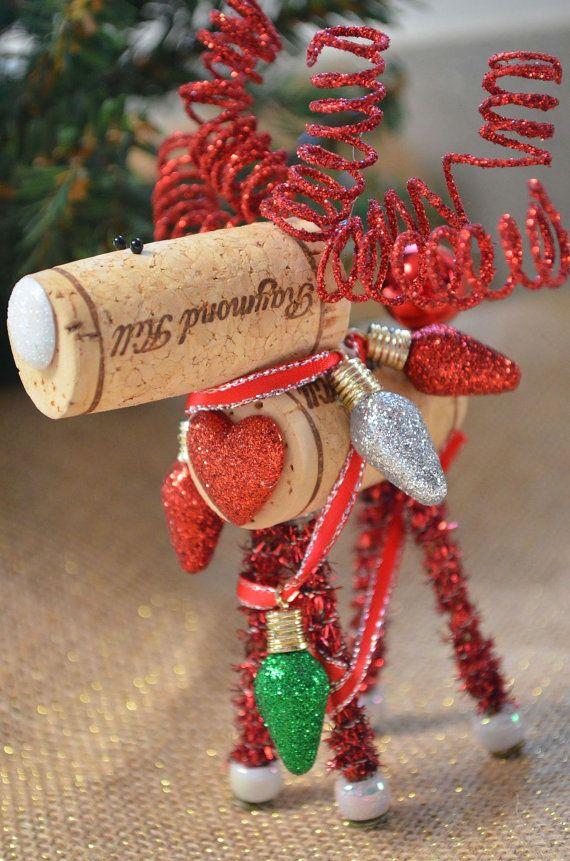 how to make cork reindeer