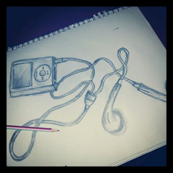 I pod sketch. things I cant live without ♥