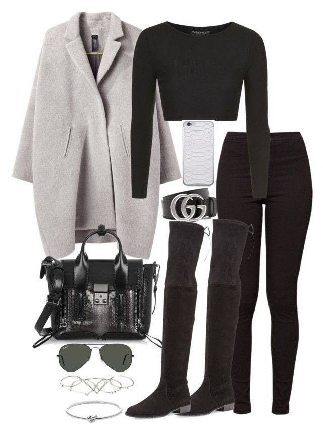 """Untitled #4841"" by theeuropeancloset on Polyvore featuring Zero + Maria Cornejo, American Apparel, 3.1 Phillip Lim, Michael Kors, Zimmermann, Ray-Ban, Stuart Weitzman, Topshop, Jamie Clawson and Gucci"