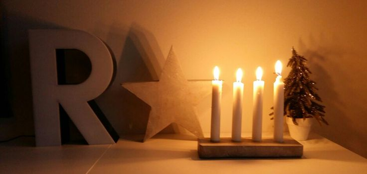 Candle holder made from concrete