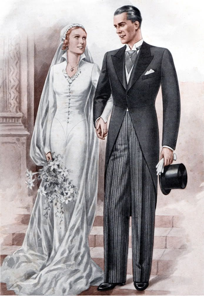 The manliest of manly outfits: the full morning suit. But without the top hat.