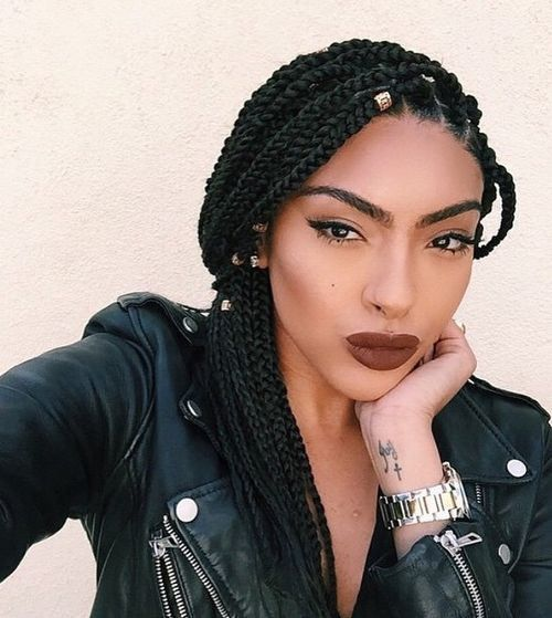 individual hair braid styles 1000 ideas about individual braids on box 3341
