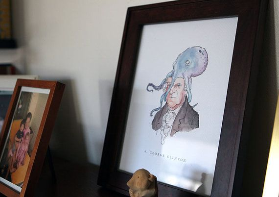 4. George Clinton: Vice Presidents with Octopuses on by Veeptopus