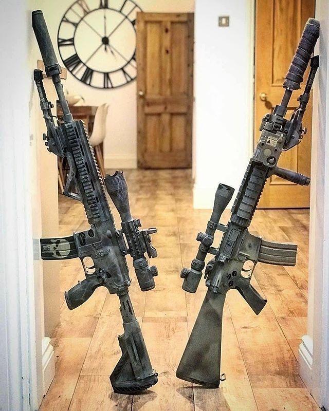 M27 or MK12? #rifle #gunsdaily #firearms     : @airsoftyoda