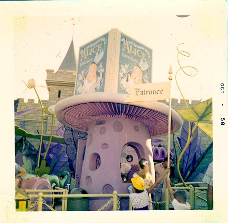 Vintage Disney Alice in Wonderland: Alice Attraction Ticket Booth - October 1958