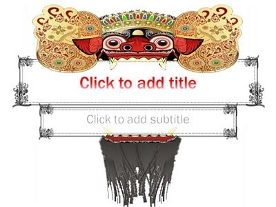 Special Indonesian culture background, full Indonesian consept, Barong Bali's clipart, 3 different background, custom title text with wordart style, easy to use.