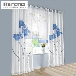 European Style Handmade Flowers Design Window Voile Floral Curtain Sheer Screens 1 PCS/Lot