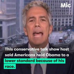 This conservative talk show host said Americans held Obama to a lower standard because of  #news #alternativenews