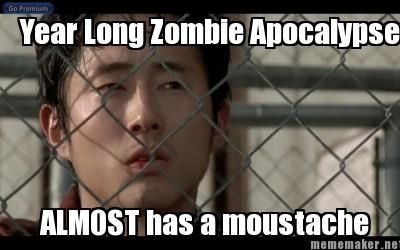 "Glen's mustache: | 46 Things You'll Only Find Funny If You Watch ""The Walking Dead"""