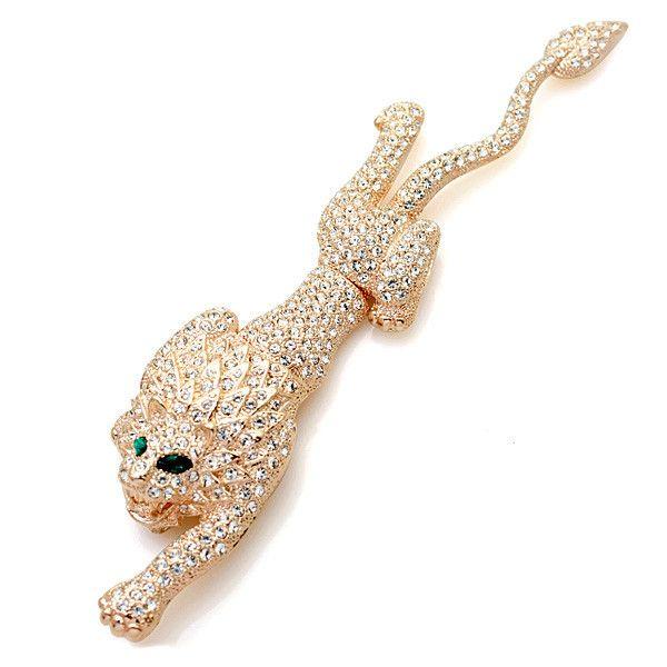 Мода ювелирные изделия 2015 иу кристалл горного хрусталя леопарда брошь с камнями бриллиантовая брошь античные броши