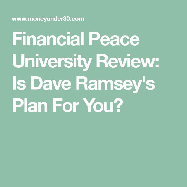 Financial Peace University Review: Is Dave Ramsey's Plan For You?