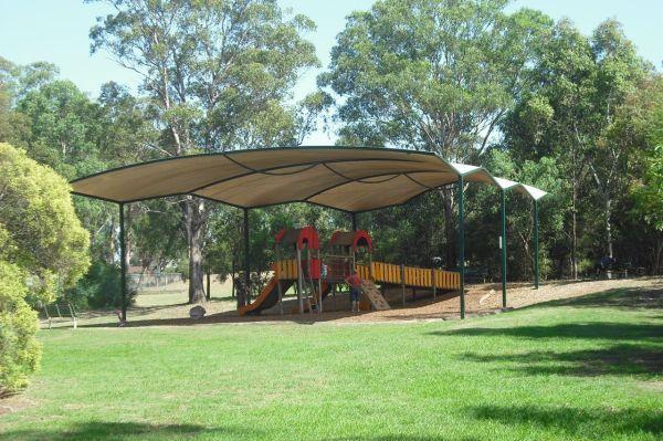 The playground near the animal enclosures