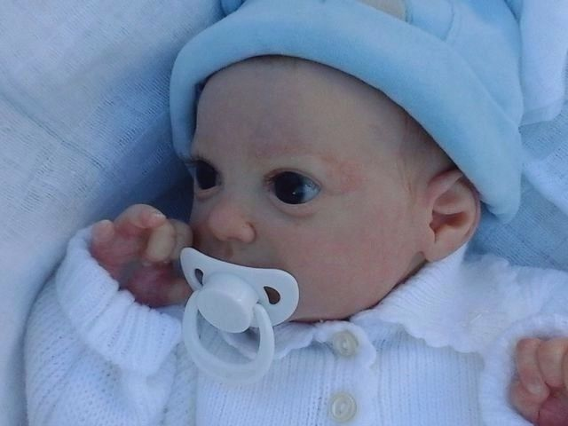 Reborn Baby Boy, from limited edition Aurora Sky, by Laura Lee Eagles #rebornartdoll