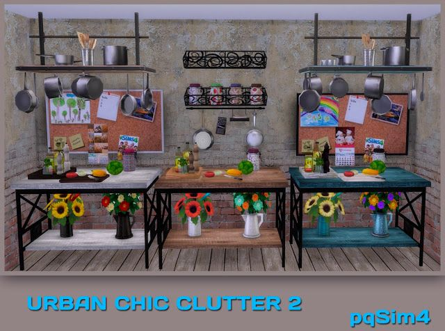 Sims 4 CC's - The Best: Urban Chic Kitchen Clutter by pqsim4
