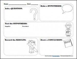 Scientific Method Printable Worksheet for Kids
