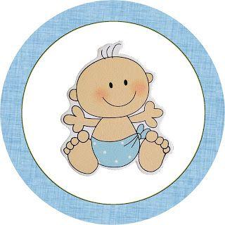 Chá de Bebê Nascimento Menino Bebê Fofinho – Kit Completo com molduras para convites, rótulos para guloseimas, lembrancinhas e imagens! | Fa...