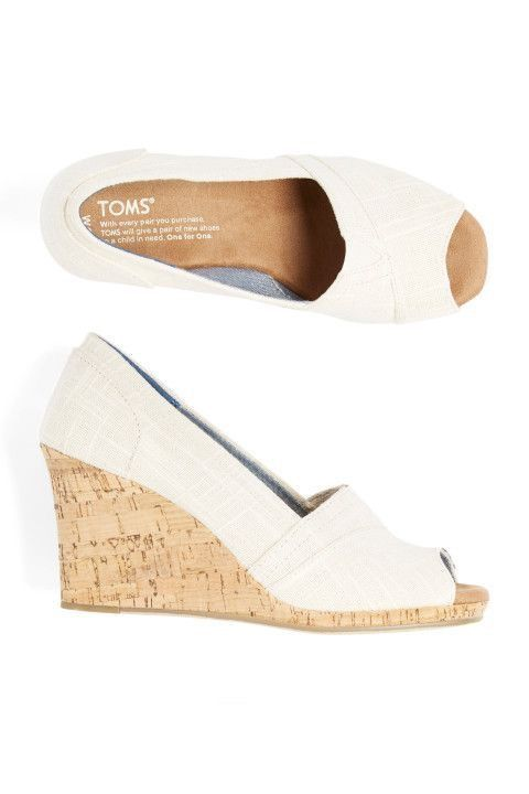 Toms White Peep-Toe Wedge Shoes - Stitch Fix Style Quiz