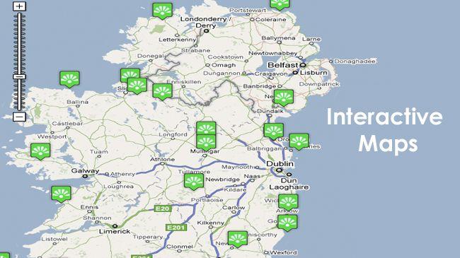 travel maps castles ireland