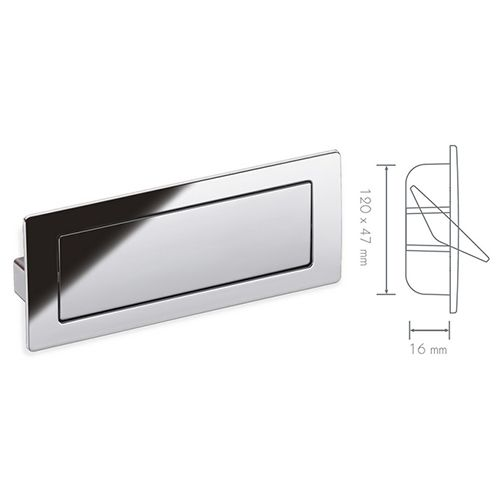 Schwinn 53355 Architectural Covered Flush Pull Recessed