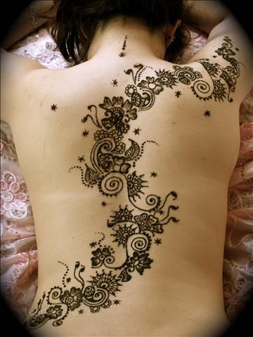 Henna Tattoo Designs On Back