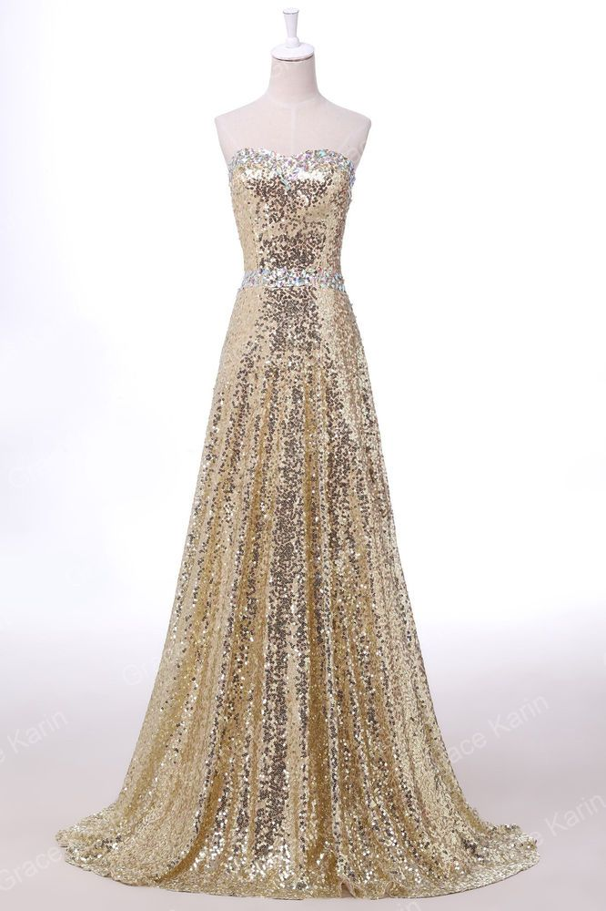 NEW CHEAP Sequin Prom Party Bridesmaid Masquerade Gown Evening Long Formal Dress #GraceKarin #BallGown #Cocktail