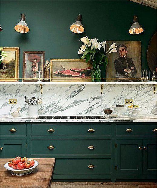 Dark Green Kitchen Ideas: Best 25+ Green Accent Walls Ideas On Pinterest