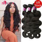 Cheap Brazilian Hair Bundles 100g-300g Remy Human Hair Weave Extensions Wavy #1B #ad