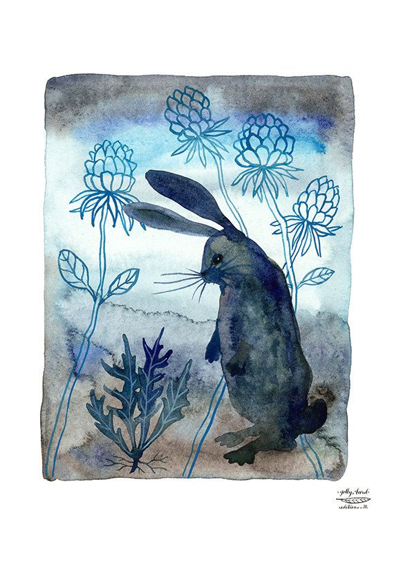 Bunny lapin print illustration par GollyBard