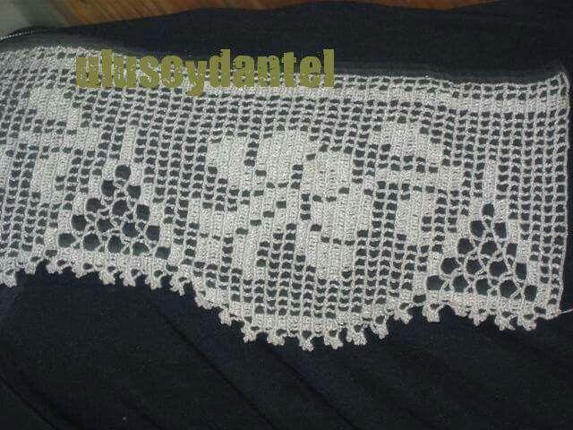 ...crochet filet edging...crochet inspiration ONLY...