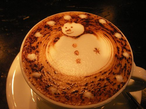 hot chocolate snowmanWinter, Coffe Cans, Latte Art, Cocoa, Coffe Art, Christmas, Snowman, Hot Chocolates, Drinks