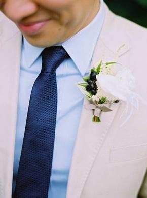 Blue Wedding Boutonnieres #blue #wedding #boutonnieres #ideas