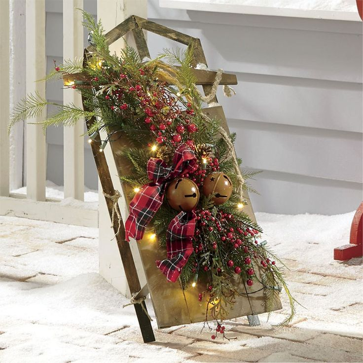 Country Christmas Decor Outside : Best outdoor christmas decorations images on