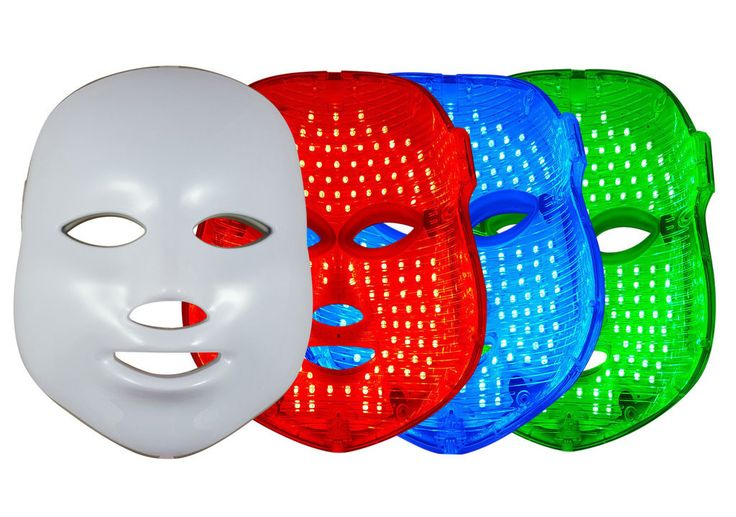 Glitz LED Therapy Anti Aging Mask - Daily Tricolor Phototherapy Solution